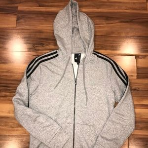 Adidas Women's Gray Zip-Up Jacket